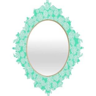 Deny Designs Joy Laforme Dahlias Seafoam Wall Mirror