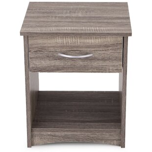Read Reviews 1 Drawer Nightstand by Adeco Trading