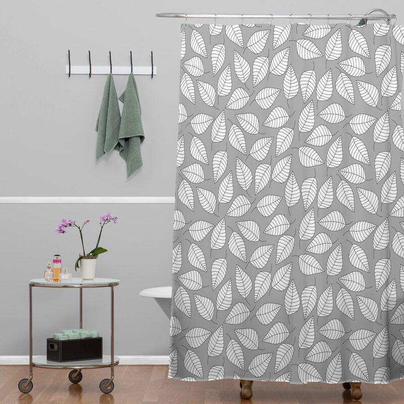 Bianca Green Leafy Shower Curtain
