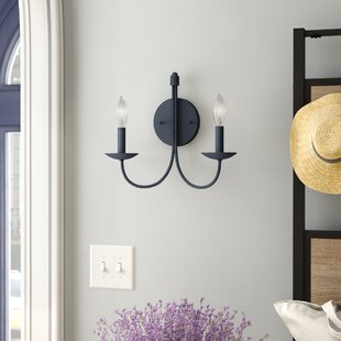 Read Reviews Souders 2-Light Candle Wall Light By Laurel Foundry Modern Farmhouse