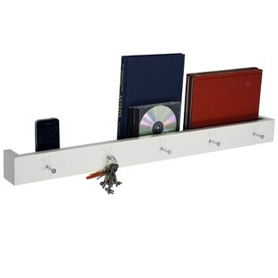 Wall Mounted 5 Key Holder / Picture Shelf By Symple Stuff