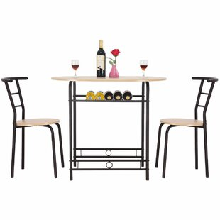 Hassinger 3 Piece Dining Set Symple Stuff