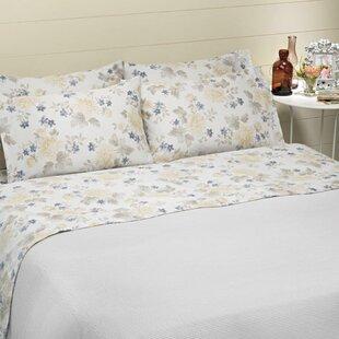 Belle Epoque Bridgeport 4 Piece 100% Cotton Sheet Set
