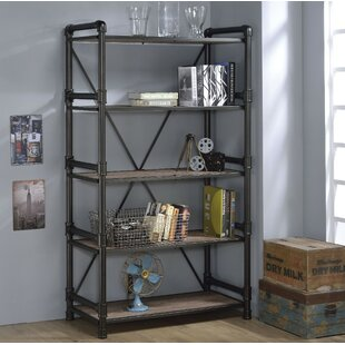 Lipford Industrial Looking Etagere Bookcase