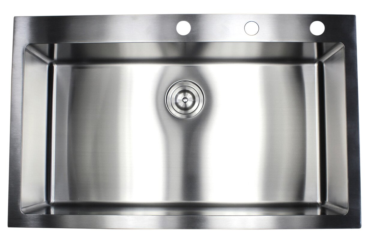 ariel 36   x 22   drop in kitchen sink with bonus accessories emodern decor ariel 36   x 22   drop in kitchen sink with bonus      rh   wayfair com