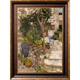 34d54a14440 Veltri  Tuscan Terrace  Framed Oil Painting Print on Canvas