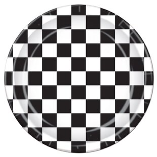 Checkered Paper Dessert Plate