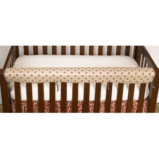 Bargain Raspberry Dot Rail Guard Cover By Cotton Tale