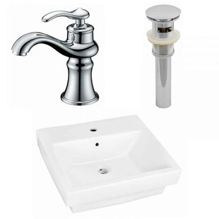Find Ceramic Rectangular Bathroom Sink with Faucet and Overflow By Royal Purple Bath Kitchen