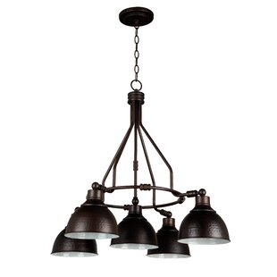 Bridgepointe 5-Light Shaded Chandelier by Beachcrest Home