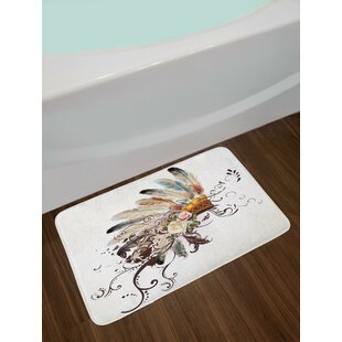 Native American Feather Bath Rug