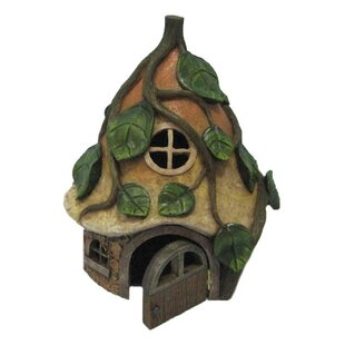 Fairy Garden Mushroom House with Vines by Hi-Line Gift Ltd.