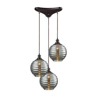 Bourbeau 3-Light Pendant by Brayden Studio