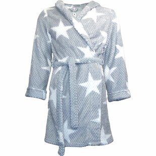 Star Flannel Fleece Bathrobe
