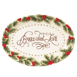 Baked With Love Oval Cookie Platter