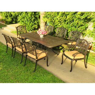 Camptown 9 Piece Sunbrella Dining Set with Cushions
