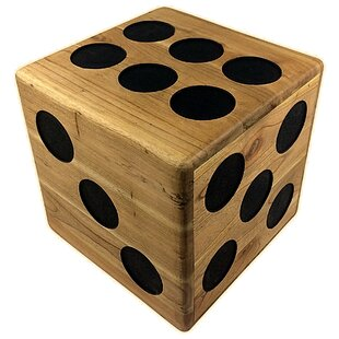Wooden Dice Stool by Prestington