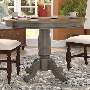 quality design cd7f1 4ab40 Round Dining Table With A Leaf | Wayfair