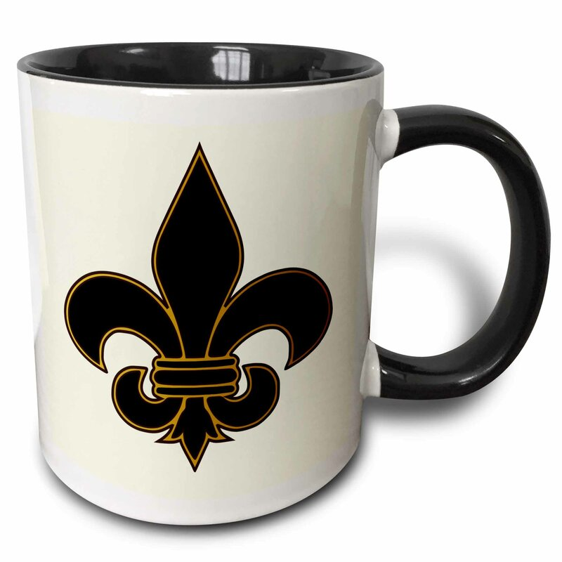 East Urban Home Large And Fleur De Lis Coffee Mug Wayfair