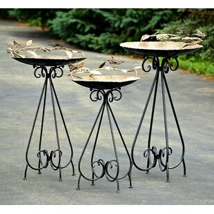 Zaer Ltd International Birdbaths with Butterflies