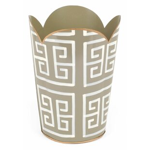 Jayes Greek Key Tulip Metal Waste Basket