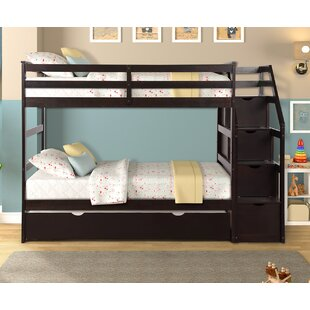 Absalon Twin over Twin Bunk Bed with Trundle by Harriet Bee