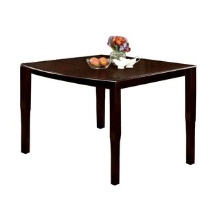 Quinney Transitional Counter Height Solid Wood Dining Table