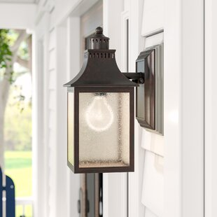 Kennett 1-Light Outdoor Glass Shade Wall lantern