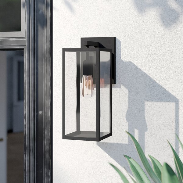 Andalucia Matte Black 1 - Bulb 14.76 H Outdoor Wall Lantern by Foundstone™