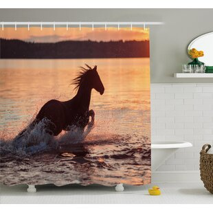 Horse Sea Single Shower Curtain