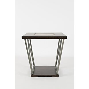 Wantage Wood and Metal End Table