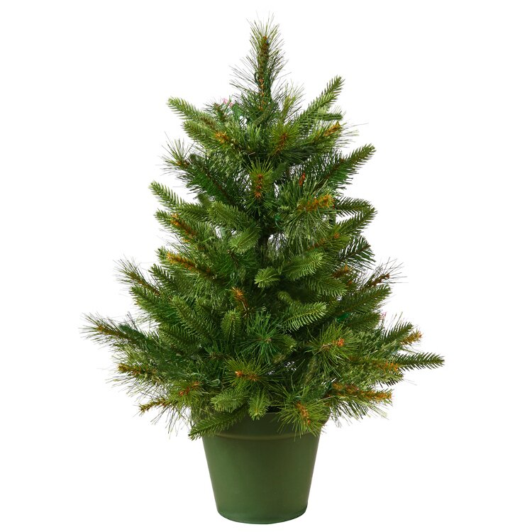 Vickerman 2' Potted Mixed Pine Cashmere Artificial Christmas Tree