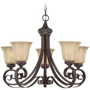 Wilhoit 5-Light Shaded Chandelier