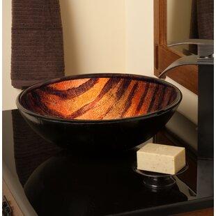 Novatto Mimetica Glass Circular Vessel Bathroom Sink
