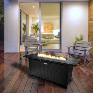 Aluminum Propane Fire Pit Table by Sunbeam