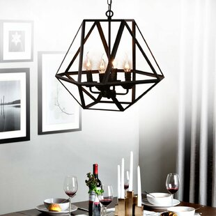 Falcon 4-Light Geometric Chandelier