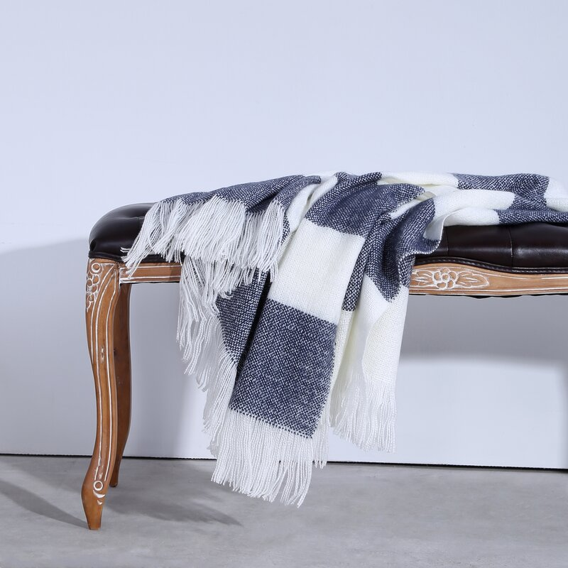 Aurora Coastal Stripe Knit Throw