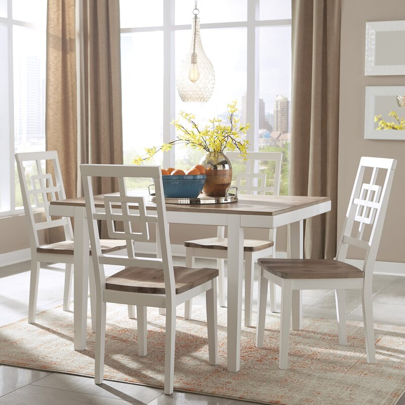 bay isle home anguilla 5 piece dining set | wayfair