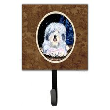 Starry Night Old English Sheepdog Leash Holder and Key Hook by Caroline's Treasures