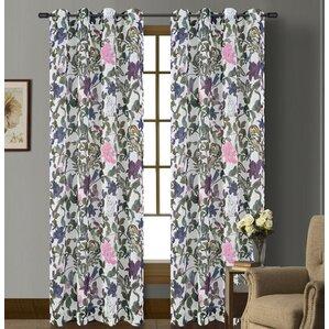 Superb Woodland Nature/Floral Sheer Grommet Curtain Panels (Set Of 2)
