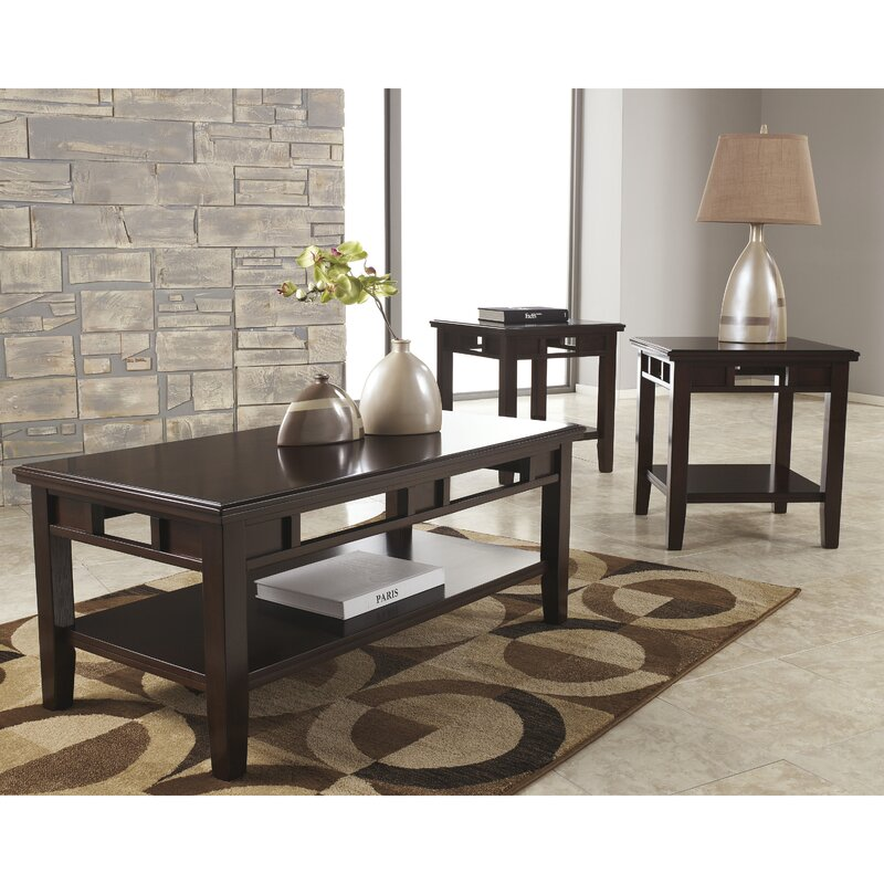 Flash Furniture Logan  Piece Coffee Table Set  Reviews Wayfair - Coffee table end table set