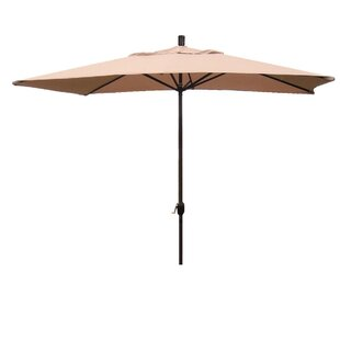 Red Barrel Studio Grieve 10' x 6' Rectangular Market Umbrella