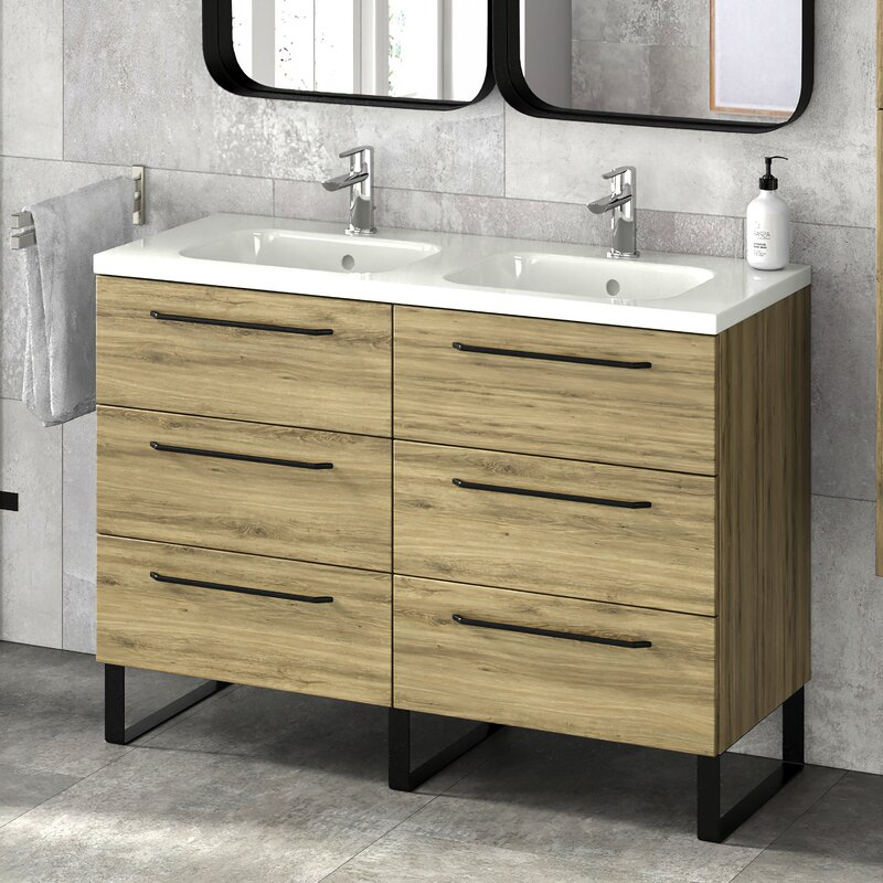 Latitude Run Dalhart 48 Double Bathroom Vanity Set Wayfair
