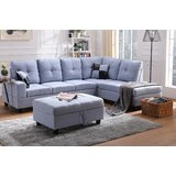 Amaryah 103.5 Sectional with Ottoman by Latitude Run®