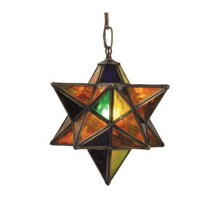 Meyda Tiffany Moravian Star 1-Light Geometric Pendant