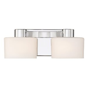 Luca Polished Chrome 2-Light Vanity Light