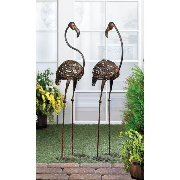Zingz U0026 Thingz 2 Piece Wild Flamingo Garden Statue Set U0026 Reviews | Wayfair