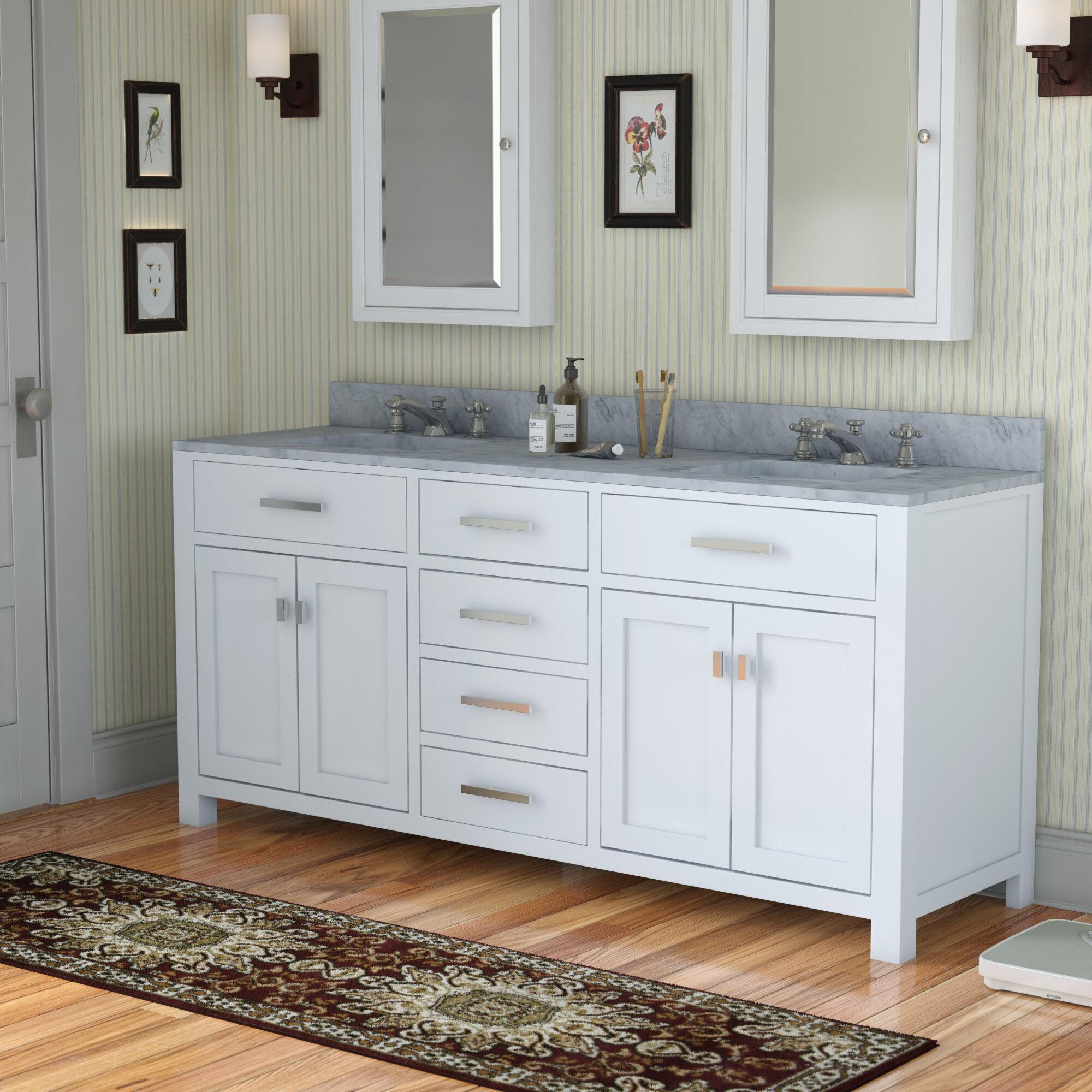 Andover Mills Minnetrista 72 Double Bathroom Vanity Set Reviews Wayfair