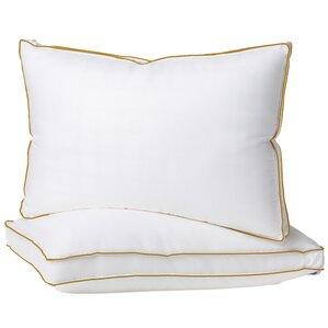 Plush Hypoallergenic 2 Pack Gel Fiber Queen Pillow by Alwyn Home