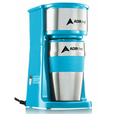 AdirChef  Grab and Go Personal Coffee Maker with 15 oz. Travel Mug  Color: Crystal Brew